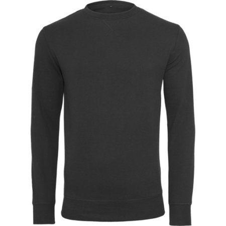 Build your Brand Light crew sweatshirt