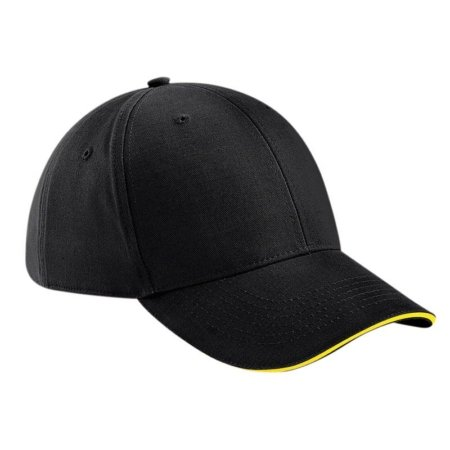 BC020 Black and Yellow 450x450 - Beechfield Athleisure 6-panel cap