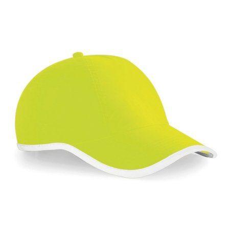 BC035 Lime and White 450x450 - Beechfield Enhanced-viz cap