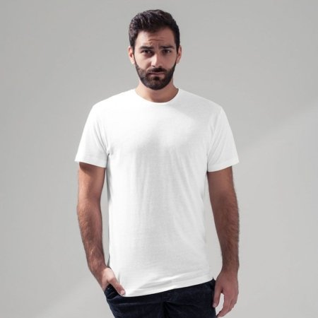 BY005 White 450x450 - Build your Brand Light t-shirt round-neck