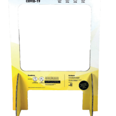 Screen Protector 450x450 - Countertop Sneeze Guard - Small