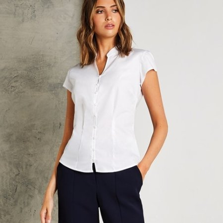 Women's continental blouse mandarin